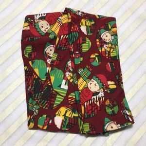 NWT Holiday LuLaRoe Kids' L/XL Leggings Elves
